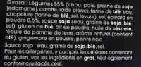 Gyoza Légumes - Ingredients - fr