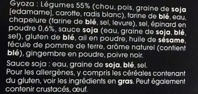 Gyoza Légumes - Ingredients