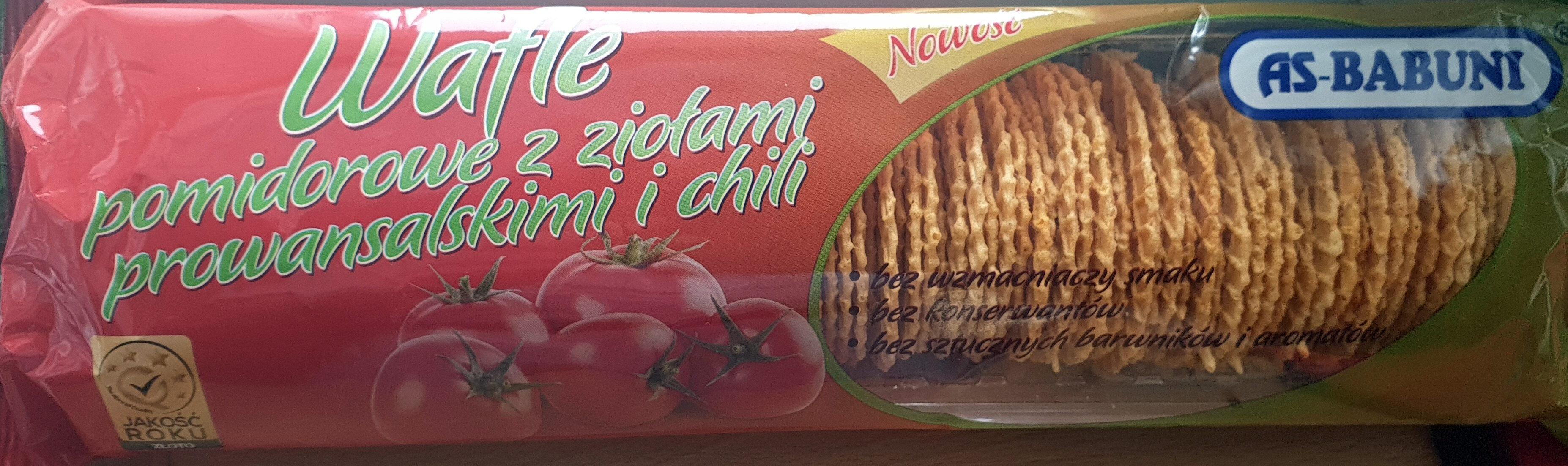 Wafle pomidorowe z ziołami prowansalskimi i chili - Produkt - pl