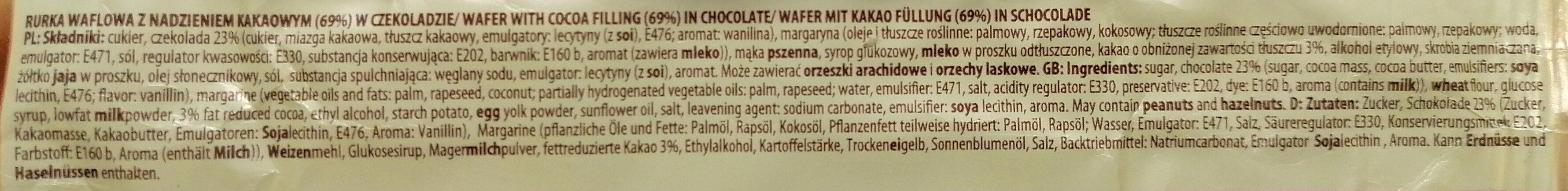 Sękacz kakaowy. - Ingredients