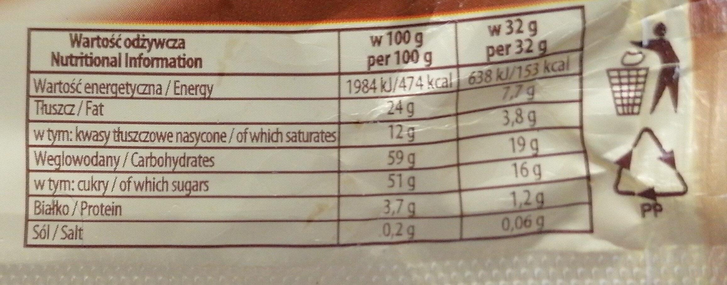Sękacz kakaowy. - Nutrition facts