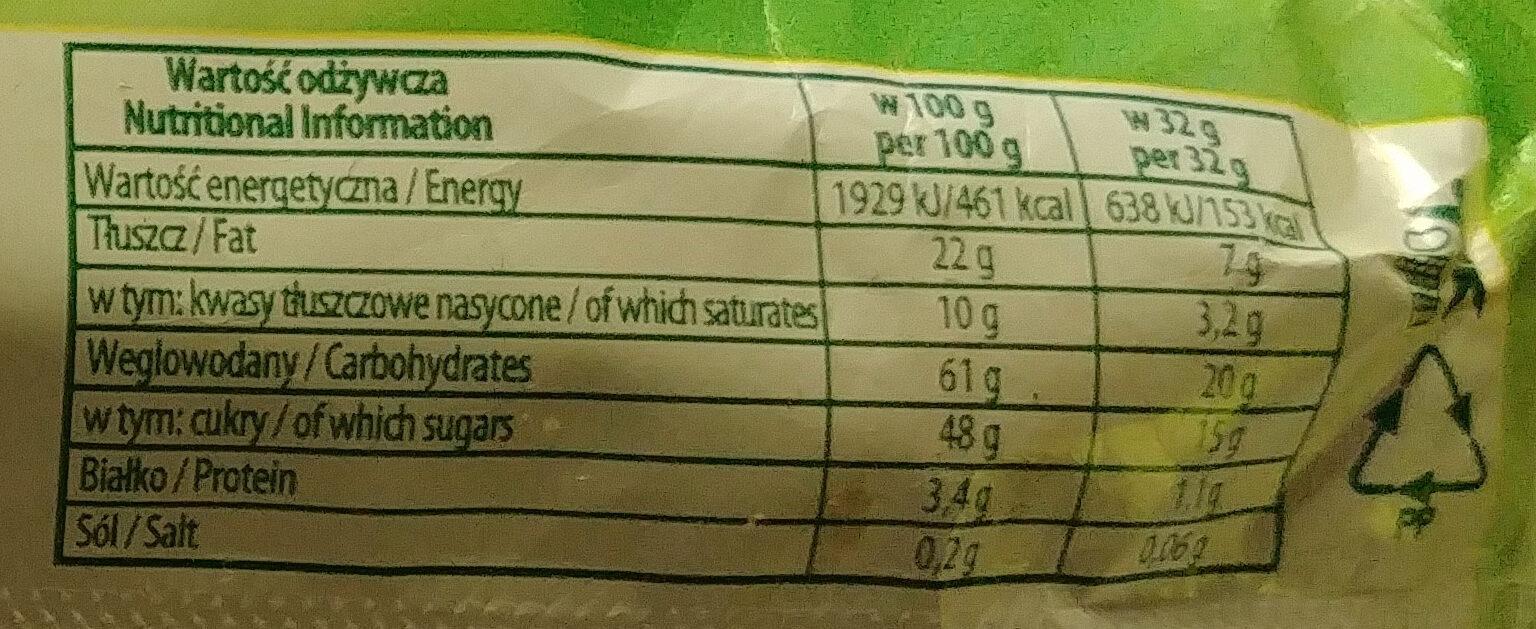 Sękacz o smaku orzechowym - Nutrition facts