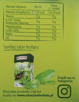 Zielona herbata w torebkach - Wartości odżywcze - pl