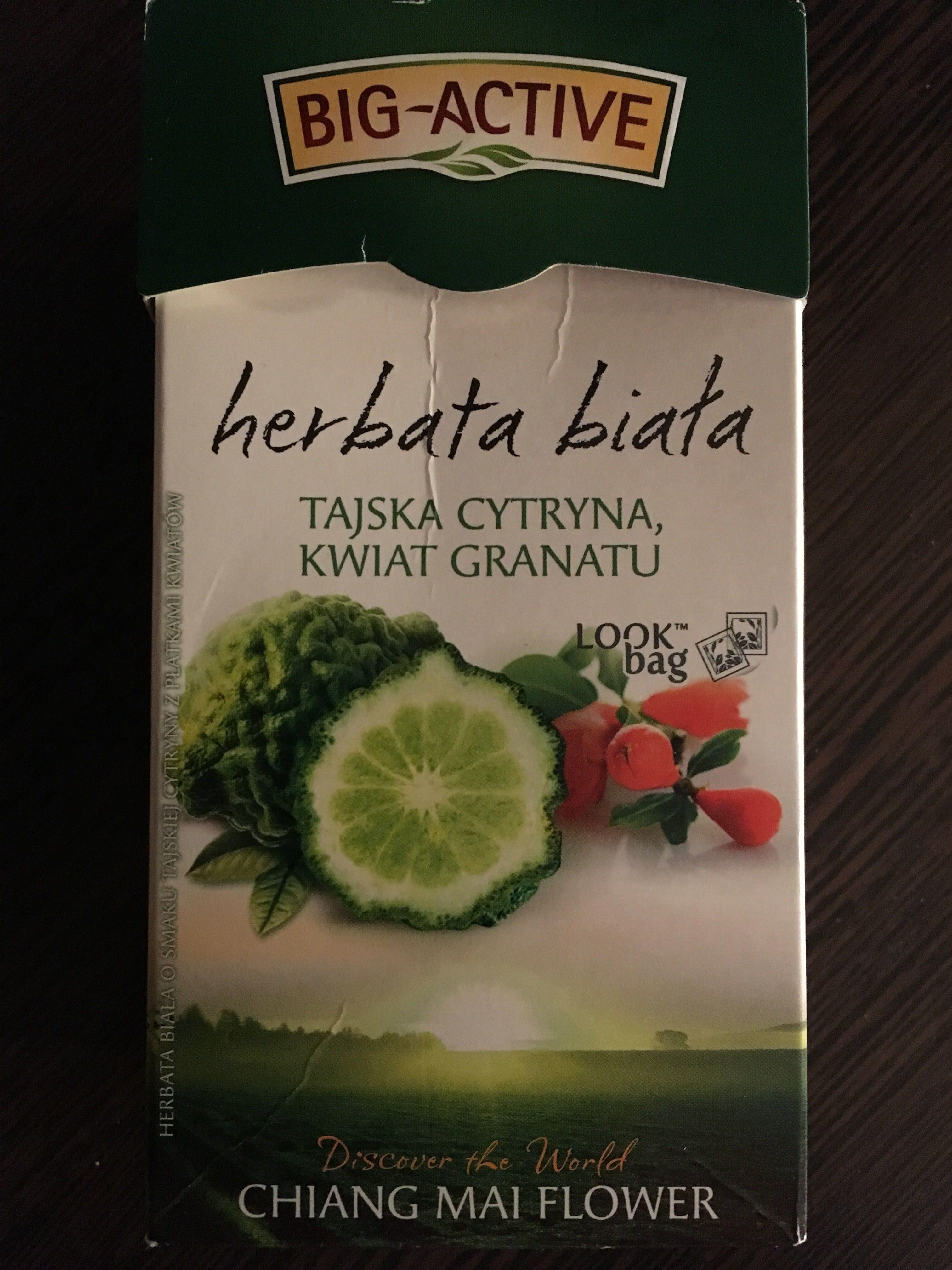 Herbata biała tajska cytryna, kwiat granatu - Produkt - pl