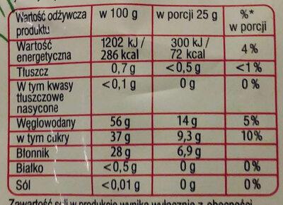 żurawina suszona - Wartości odżywcze - pl