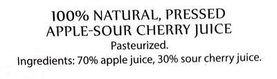 Tłoczony sok jabłkowo-wiśniowy - Ingredients