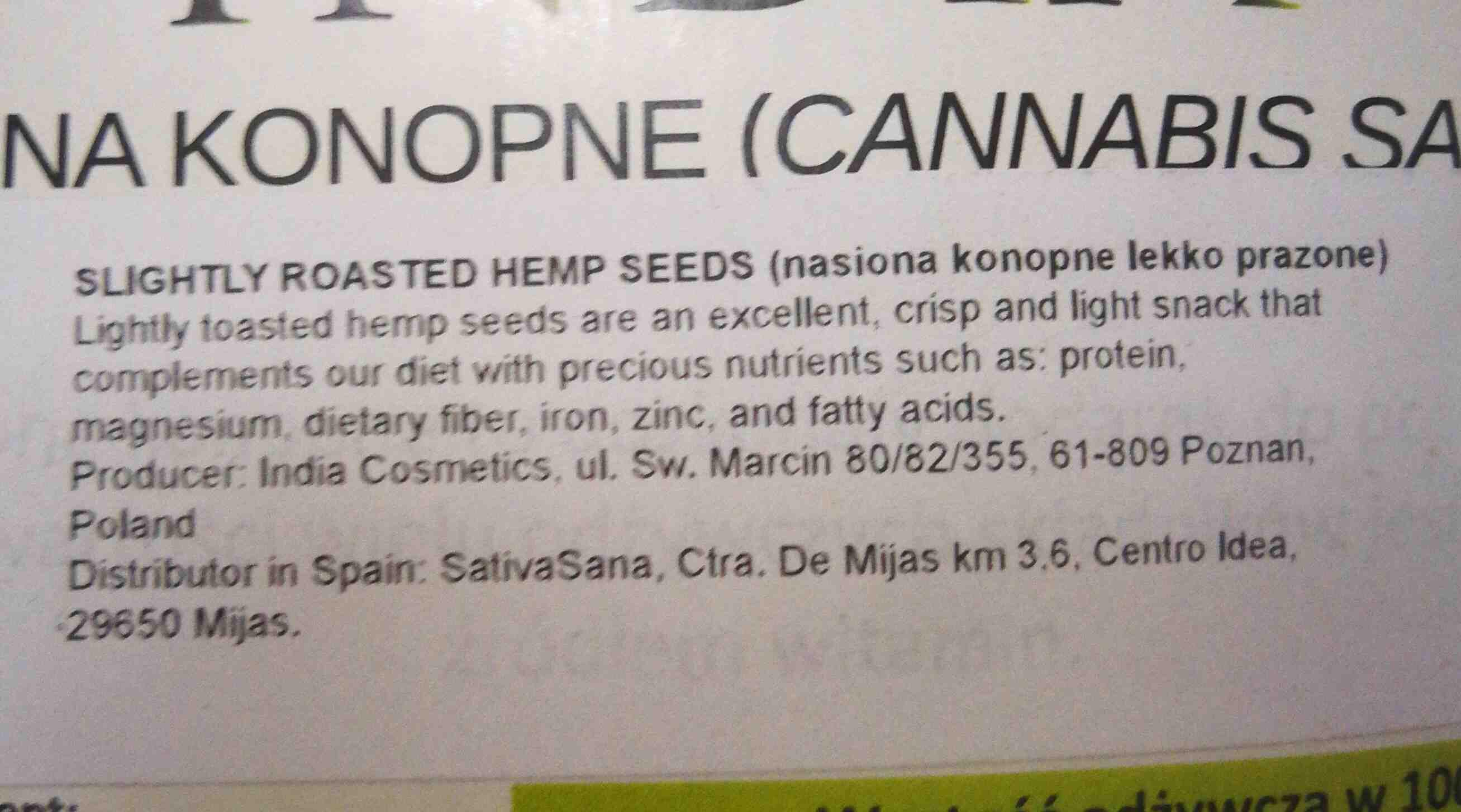 roasted hemp  seeds - Ingredients