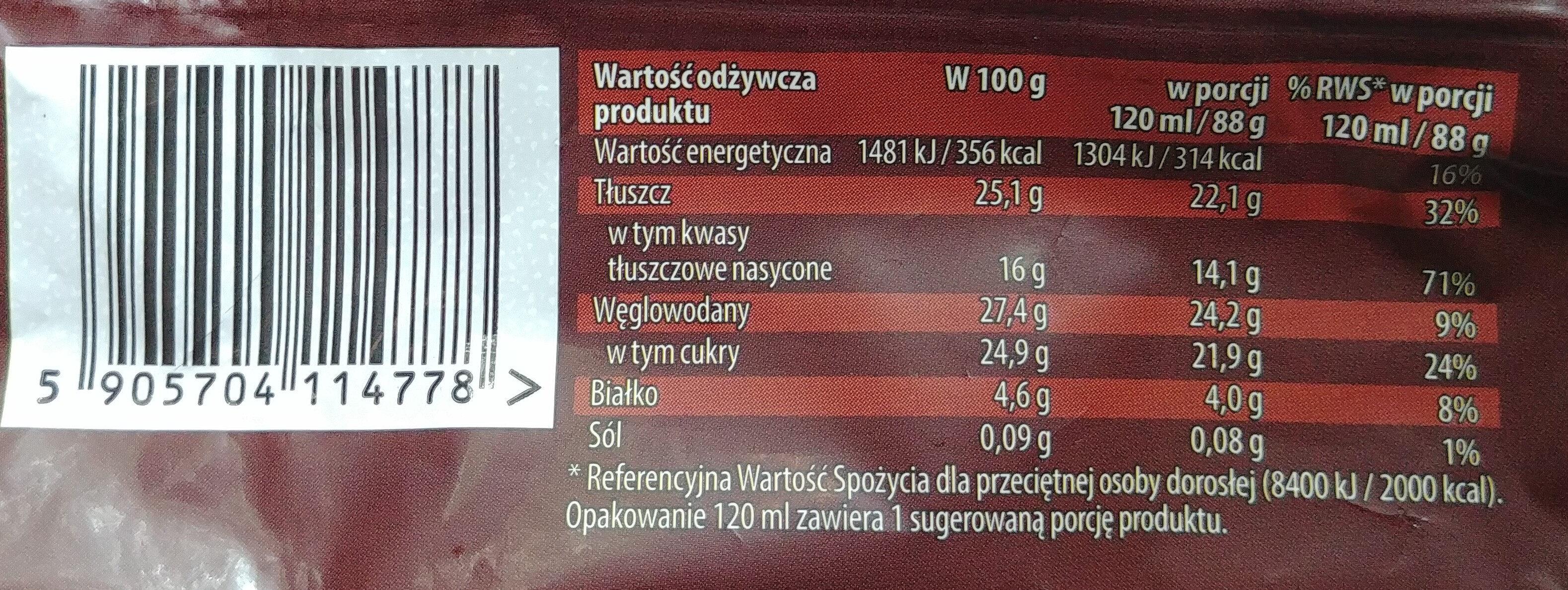 Lody waniliowe w czekoladzie mlecznej 27% z migdałami 6%. - Wartości odżywcze - pl