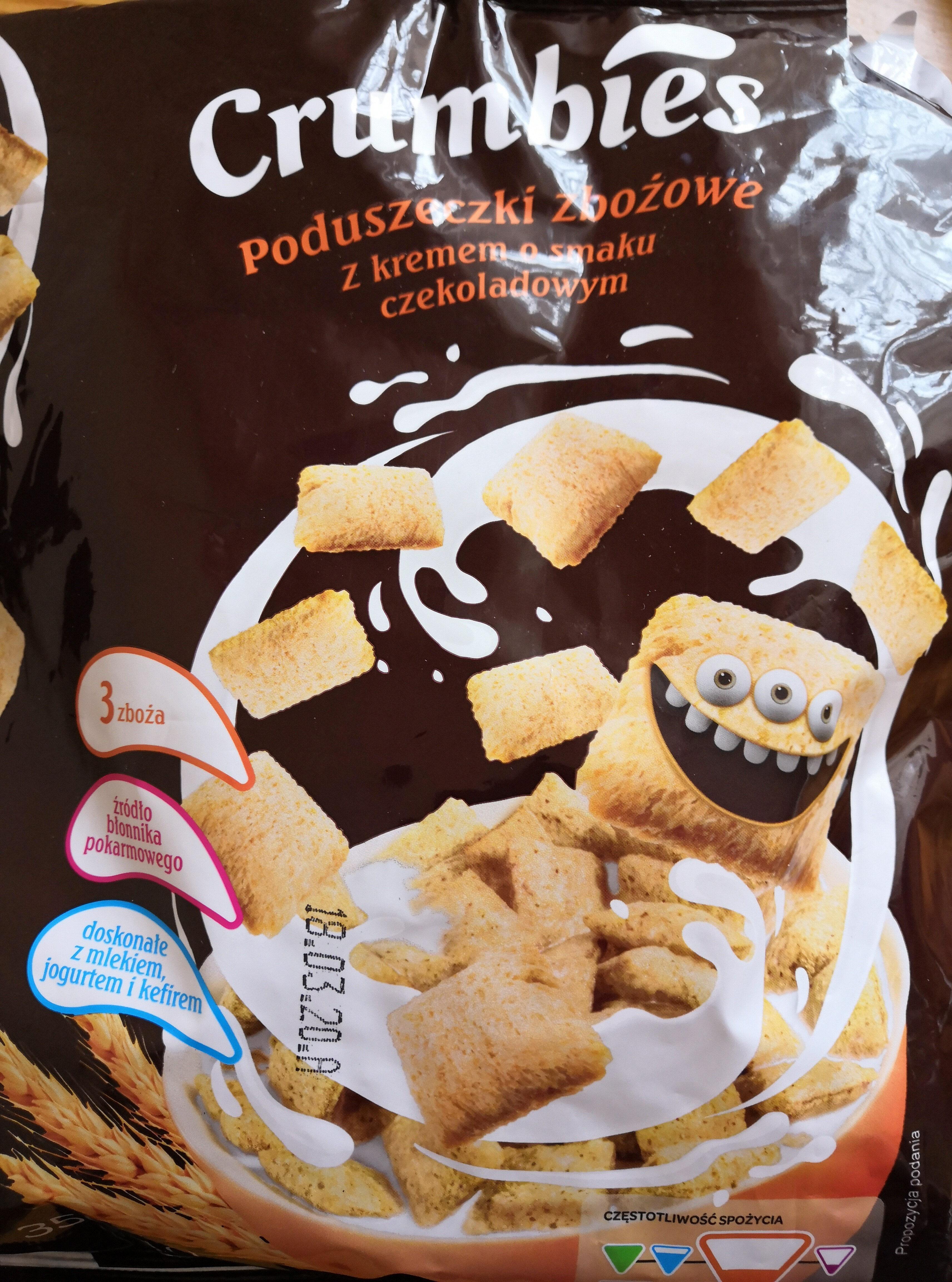 Poduszeczki zbożowe z kremem o smaku czekoladowym - Produkt - pl
