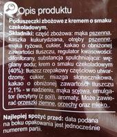 Poduszeczki zbożowe z kremem o smaku czekoladowym - Składniki - pl