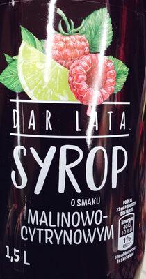 Syrop o smaku malinowo-cytrynowym - Produkt - pl