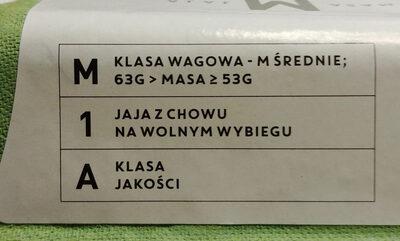 Jaja M - Składniki