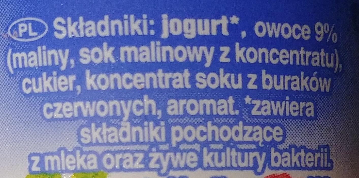 Jogurt malinowy - Składniki