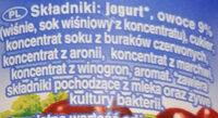 Jogurt wiśniowy - Składniki