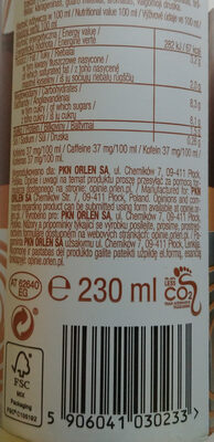 Napój kawowy na bazie pełnego mleka i śmietanki - Wartości odżywcze