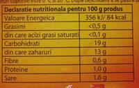 Tarsmak Ketchup dulce - Informations nutritionnelles