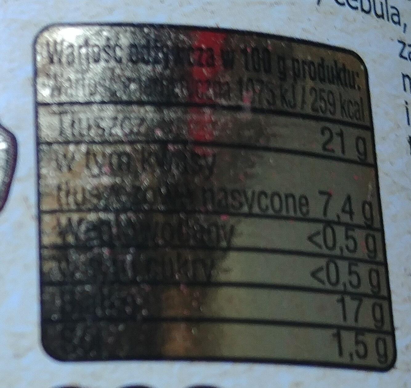 """Mięsiwo bez """"E"""" - Wartości odżywcze"""