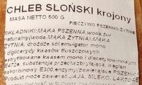 Chleb słoński krojony - Składniki - pl