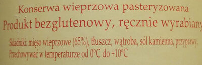 Pasztet wiejski - Ingrédients - pl