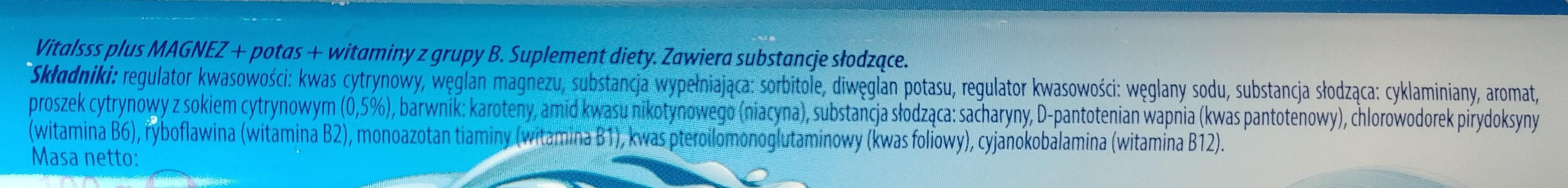 Dwuwarstwowe tabletki musujące o smaku pomarańczowym z sokiem owocowym - Ingrediënten