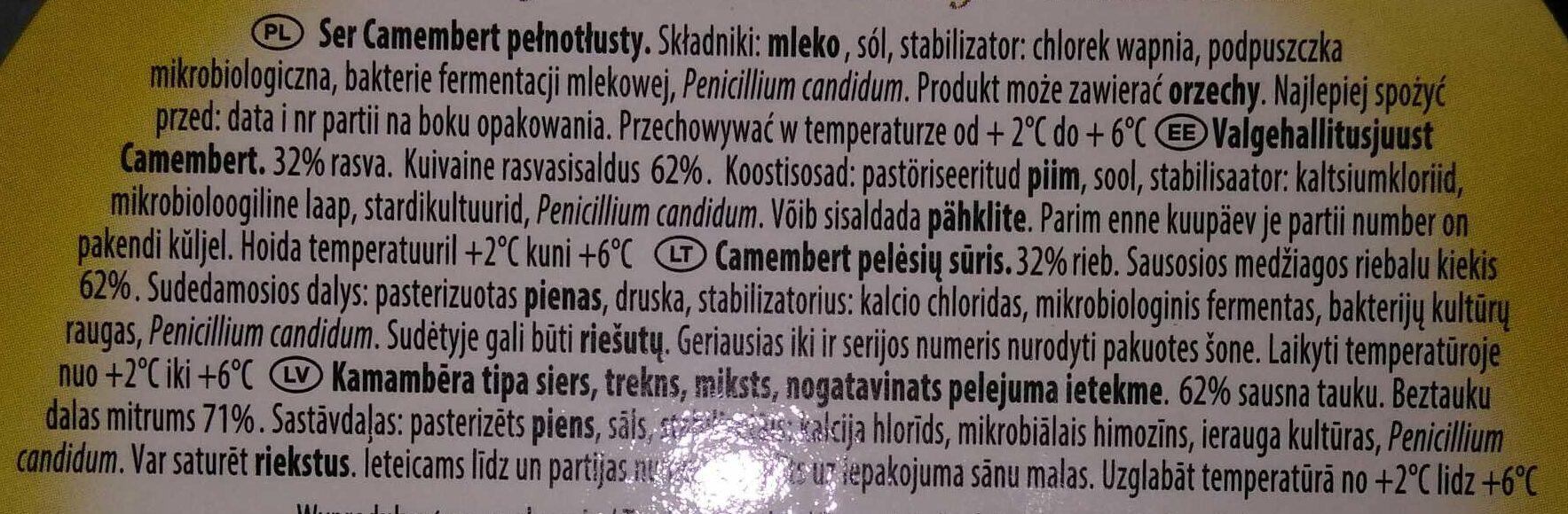 Camembert - Ingredients - lt