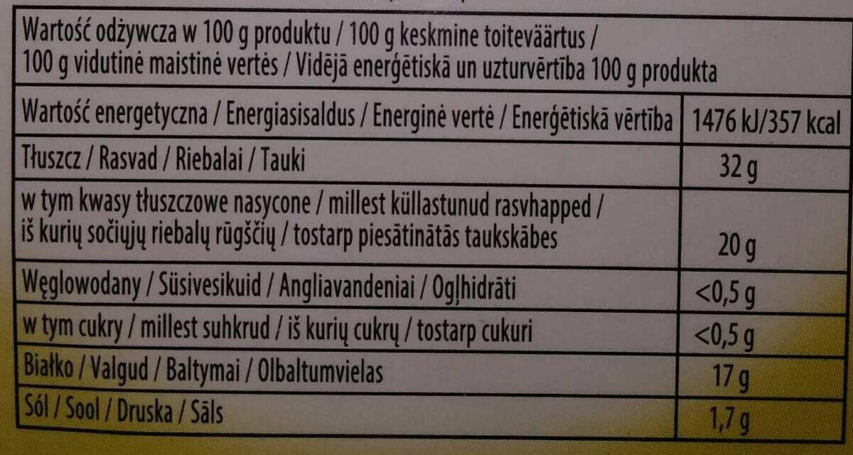 Camembert - Nutrition facts - lt