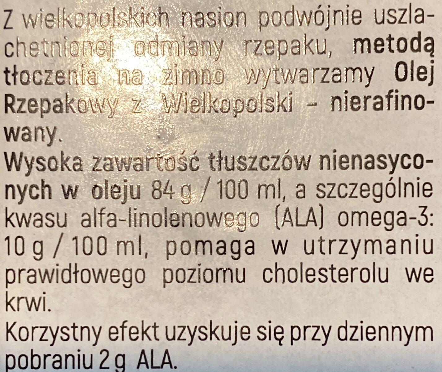 Olej rzepakowy - Ingredients - pl