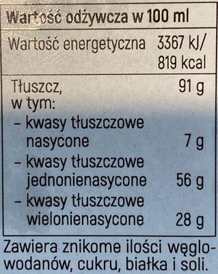 Olej rzepakowy - Nutrition facts - pl