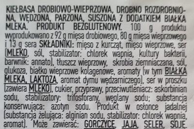 Kabanos & stixy - Składniki - pl