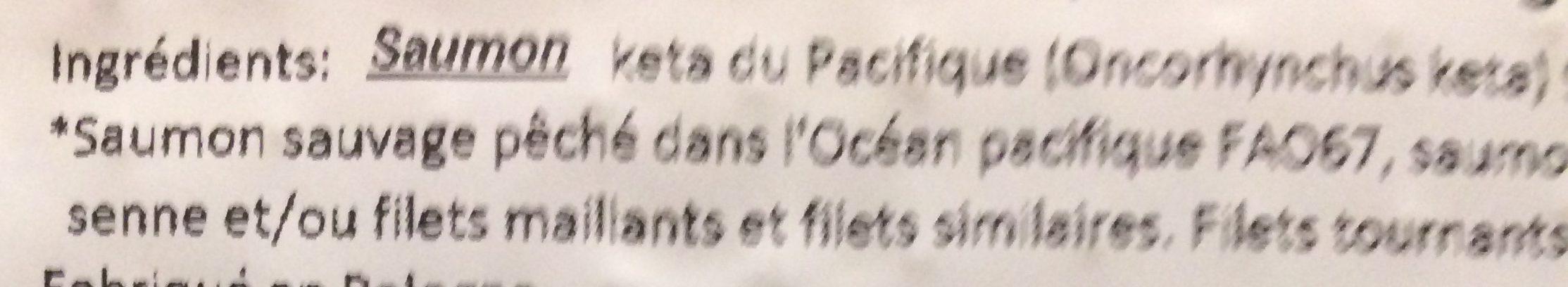 Saumon Sauvage Fumé au Bois de Hêtre - Ingredients