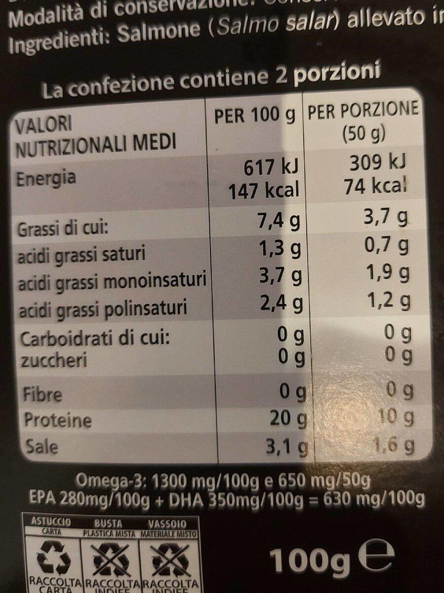 Salmone scozzese affumicato - Nutrition facts - it