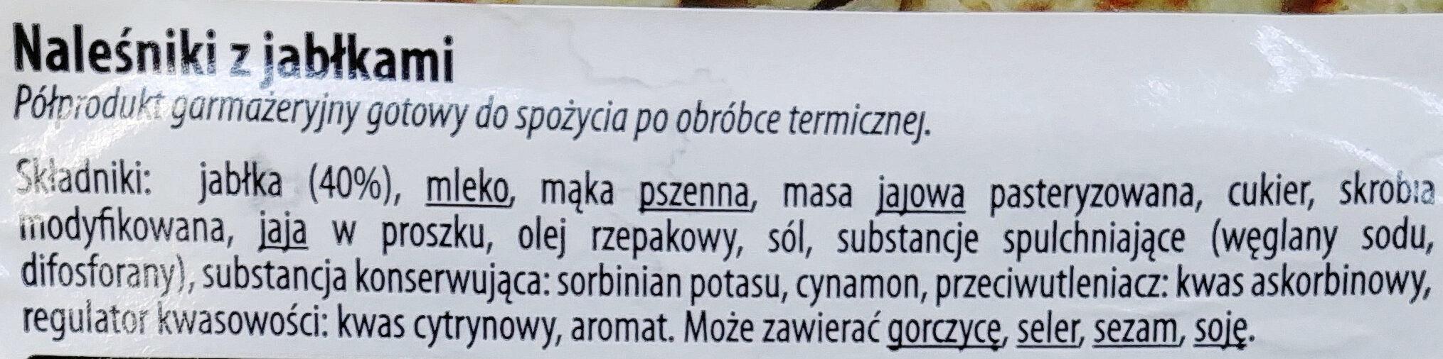 Naleśnik z jabłkami - Składniki - pl