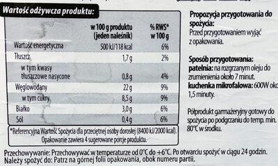 Naleśnik z jabłkami - Informations nutritionnelles - pl