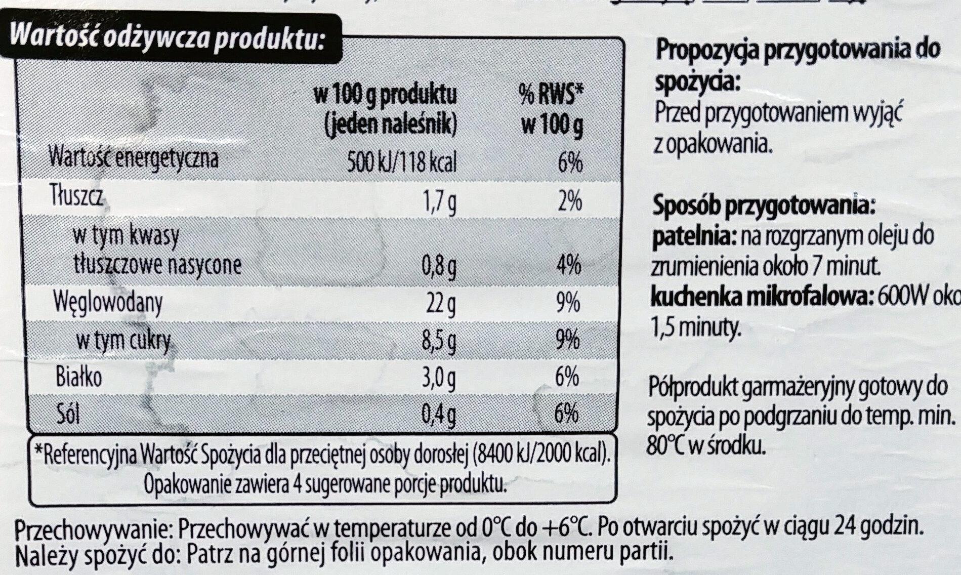 Naleśnik z jabłkami - Wartości odżywcze - pl