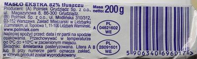 Masło extra - Składniki - pl
