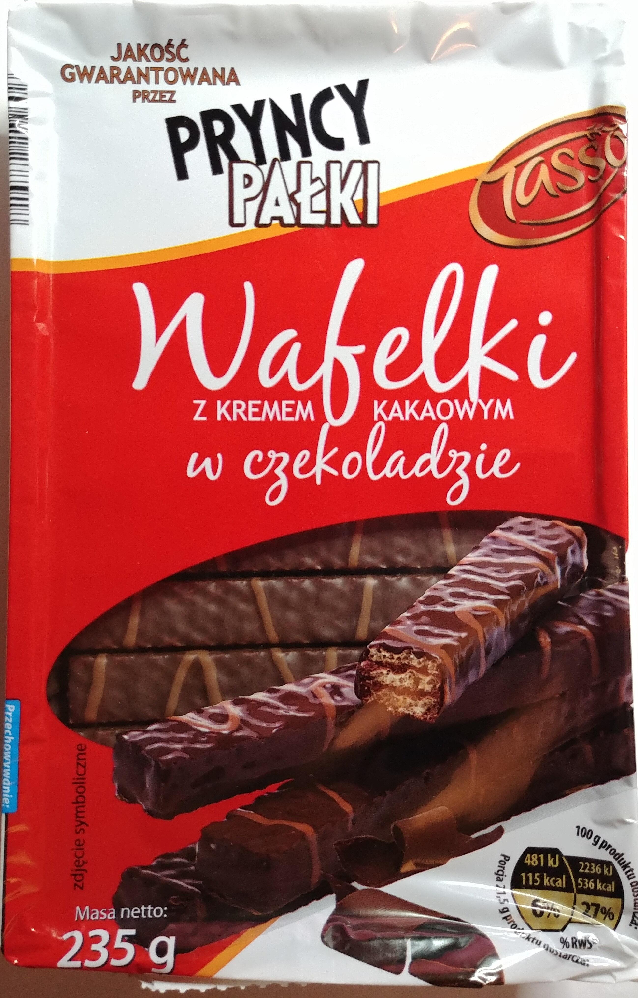 Wafelki z kremem kawowym w czekoladzie (43%). - Product