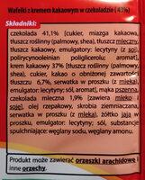 Wafelki z kremem kawowym w czekoladzie (43%). - Ingredients