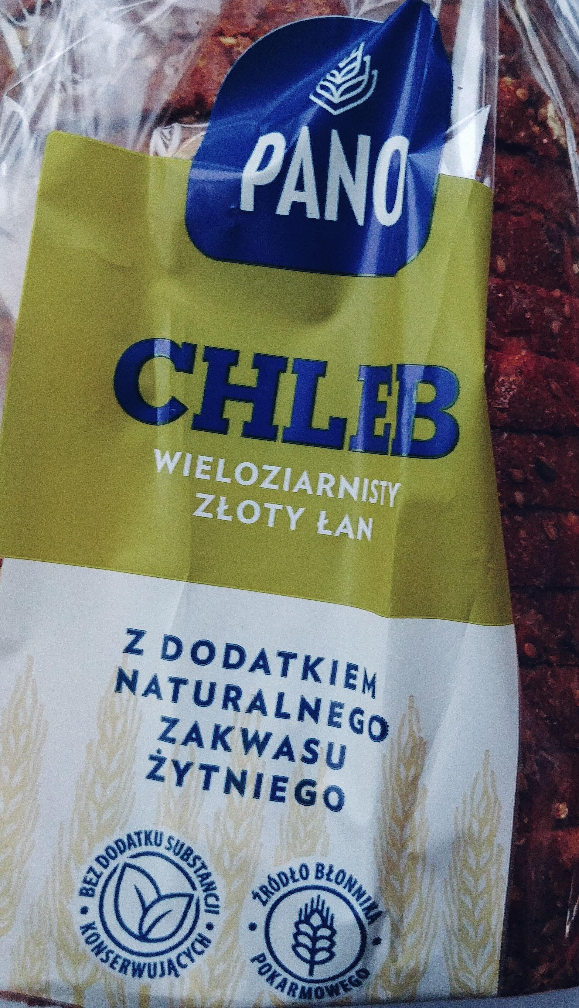 Chleb mieszany pszenno-żytni z dodatkiem naturalnego zakwasu żytniego oraz ziaren, krojony. Złoty łan - Produkt
