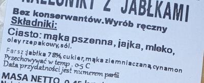 Naleśniki z jabłkami - Ingrediënten - pl