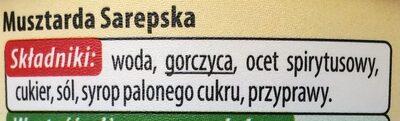 Musztarda sarepska - Składniki - pl