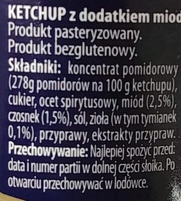 Ketchup z doatkiem miodu, czosnku i tymianku. - Ingrédients - pl