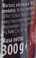 Ketchup z doatkiem miodu, czosnku i tymianku. - Informations nutritionnelles - pl