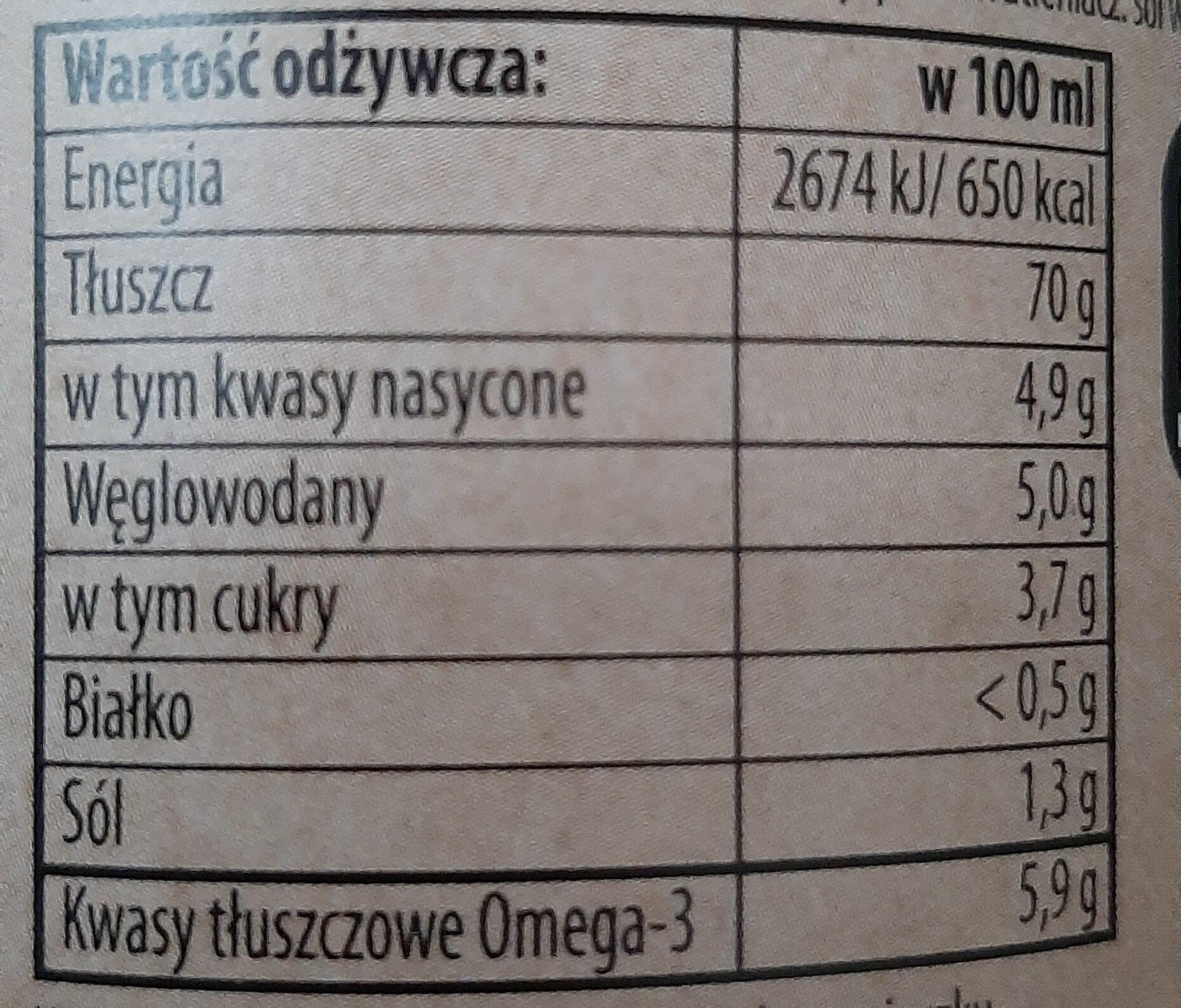 Majonez Wegański - Informations nutritionnelles - pl