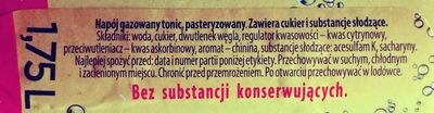 Napój gazowany tonic - Składniki