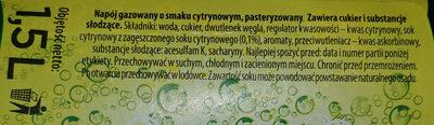 Napój gazowany o smaku cytrynowym - Składniki - pl