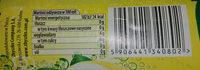 Napój gazowany o smaku cytrynowym - Wartości odżywcze - pl