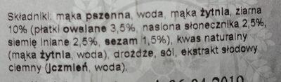 Chleb wieloziarnisty krojony - Składniki - pl
