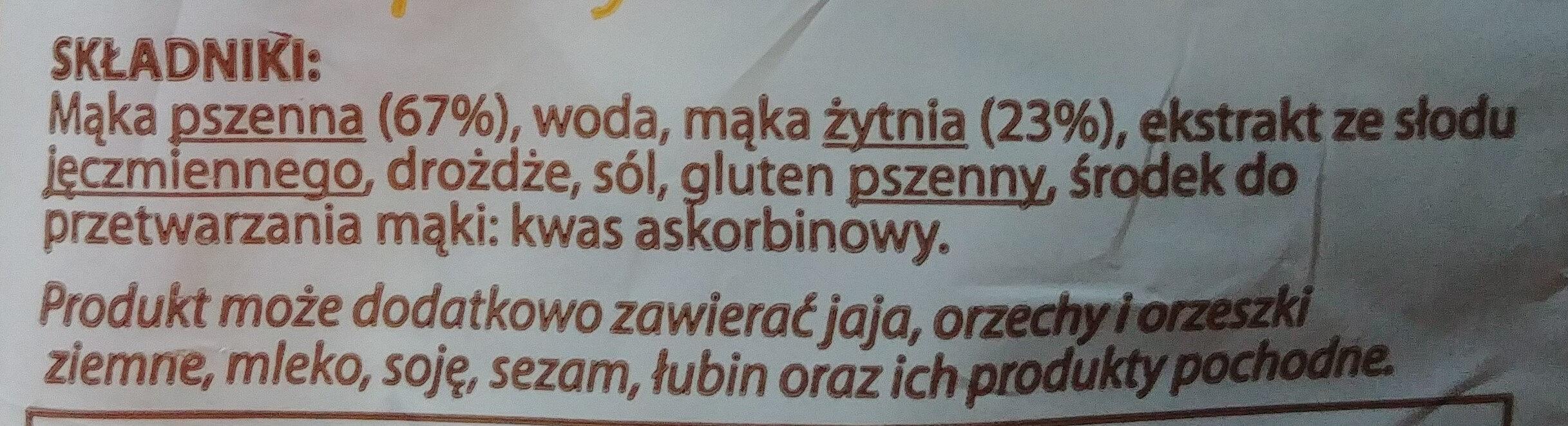 Chleb z mąką krojony - pieczywo mieszane - Składniki