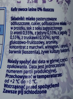 Kefir owoce leśne 0% tłuszczu - Ingredients