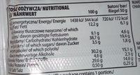Lean bar chocolat - Nutrition facts